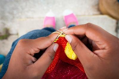 Knitting at Neighborhood Fiber Co.