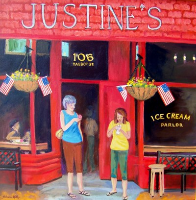 Painting Entitled Justine's Ice Cream