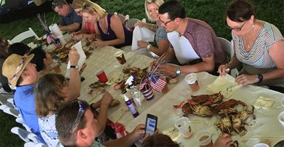 People at Fort McHenry Crab Feast