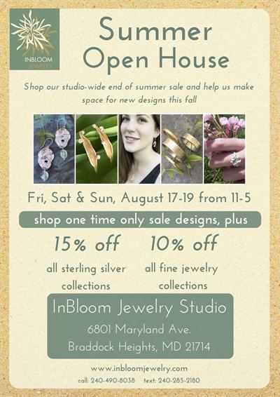 InBloom Jewelry Open Studio Invitation