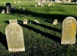 Methodist Cemetery before preservation efforts.