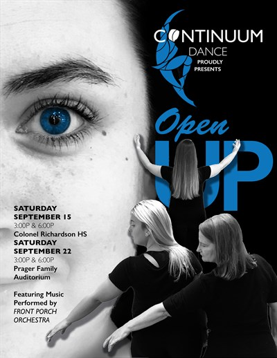 Continuum Dance Fall Concert Open Up Poster