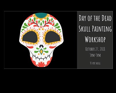 Banner for Day of the Dead Skull Painting