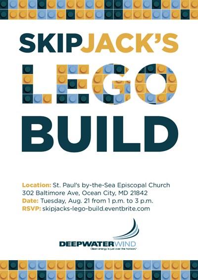 Skipjack's Lego Build invitation