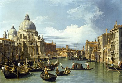 Painting of Venice canals