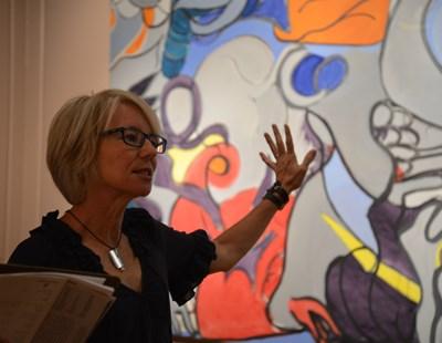 Curator's hosting a tour