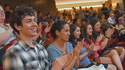 Audience Clapping at a Boshell Lecture