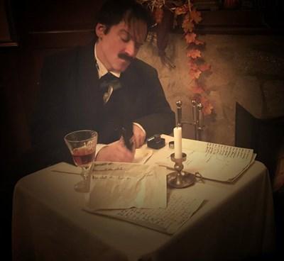 actor depicting Edgar Allan Poe