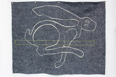 Ryan Lytle's wool drawing,