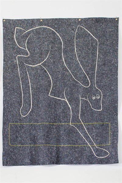 Ryan Lytle's wool drawing,