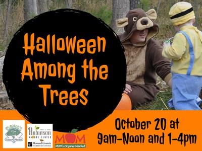 Halloween Among the Trees Poster