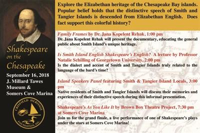 Shakespeare on the Chesapeake Program
