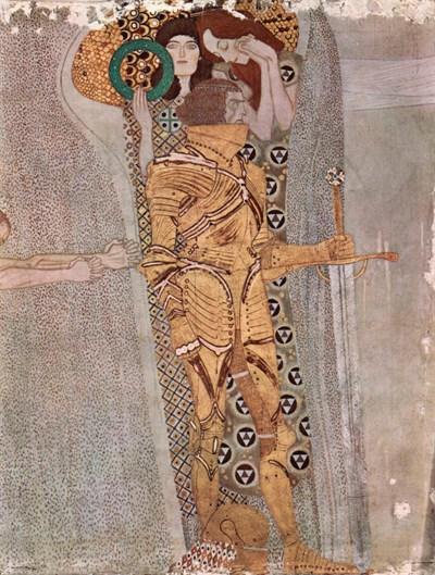 Gustav Klimt's painting of Beethoven