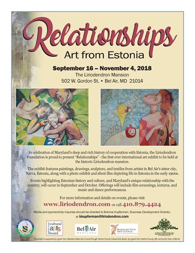 Relationships: Art from Estonia Flyer