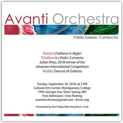 Avanti Orchestra poster