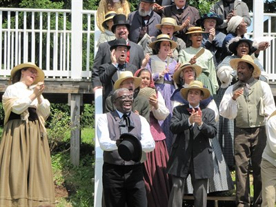 Heritage Voices performs at a Maryland heritage site.
