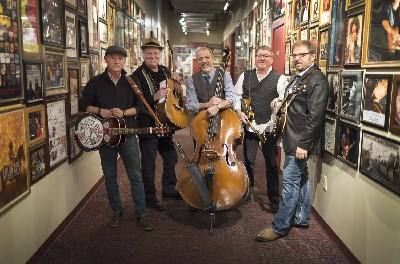 photo of seldom scene with their instruments
