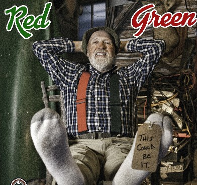photo of red green
