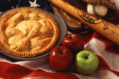 Baseball, apples and apple pie