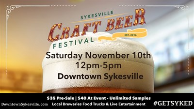 Sykesville Craft Beer Festival Flyer