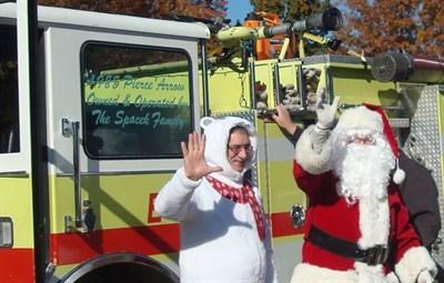 Santa opens Christmas Train Garden at Aviation Museum