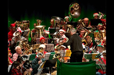 Tuba Christmas performance