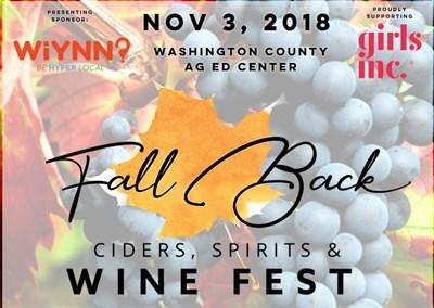 Fall Back Wine Fest Poster
