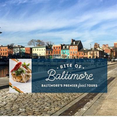Bite of Baltimore Banner over Fells Point Scene