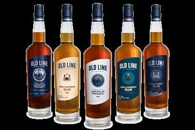 Bottles of Old Line Spirits
