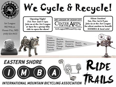 We Cycle and Recycle Poster