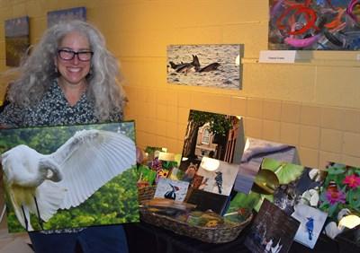 Pam Franks displays her photographic prints