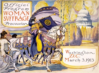 Women's suffrage march
