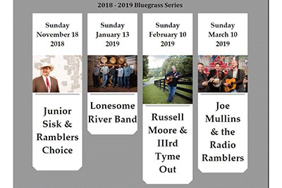 Calendar of Bluegrass Concerts