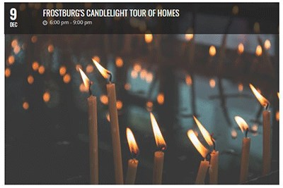 Frostburg Candlelight Tour of Homes Flyer