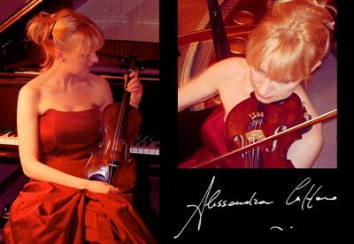 Alessandra Cuffaro with her violin.