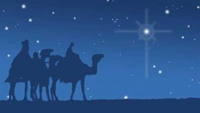 Three wise men and north star