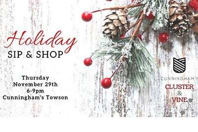 Holiday Sip & Shop Flyer