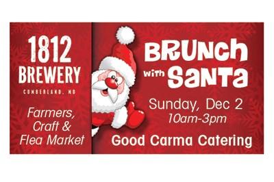 1812 Farmers/Craft/Flea Market & Brunch with Santa poster