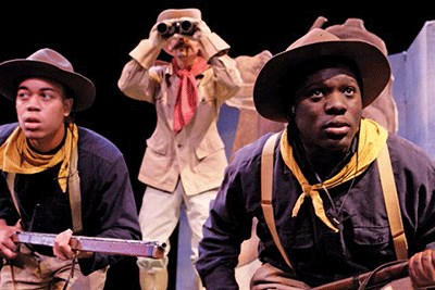 Actors portraying Buffalo Soldiers on patrol