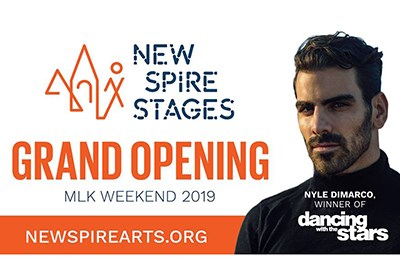 Nyle DiMarco, MSD Alumni on Grand Opening Flyer