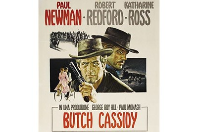 Vintage Movie Poster for Butch Cassidy & Sundance