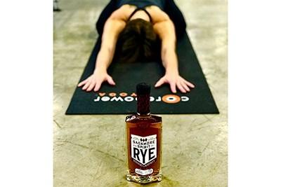 Woman in a Yoga Pose at Sagamore Spirit