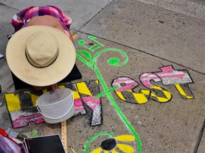 Chalk Artist Paints at First Saturday's Mayfest