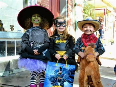 Kids on Halloween in Downtown Frederick