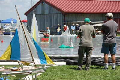 People at the Maritime Model Expo in St. Michaels