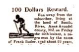 Fugitive Slave Cases-Frank Butler Newspaper Clipping