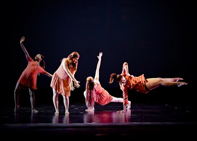 CCBC Dance Company Performing On Stage