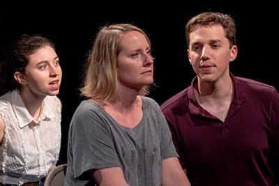 Cast members Julia Gerhardt, Jessica Henkin, Danny Hughes
