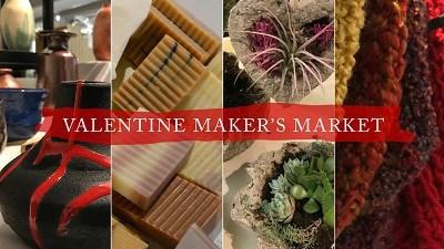 Valentine Maker's Market poster