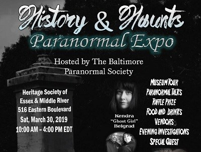 History and Haunts Paranormal Expo poster